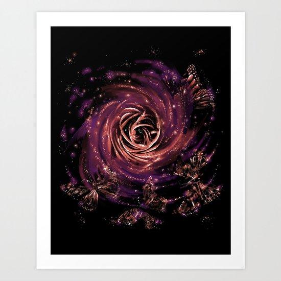 cosmic butterfly Art Print