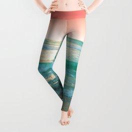 Aqua and Coral, 1 Leggings