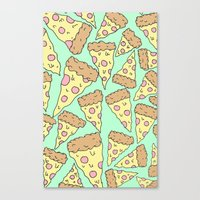 pizza Canvas Prints featuring Pizza by Evan Smith
