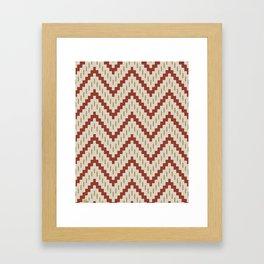 Native-Inspired Pattern  Framed Art Print
