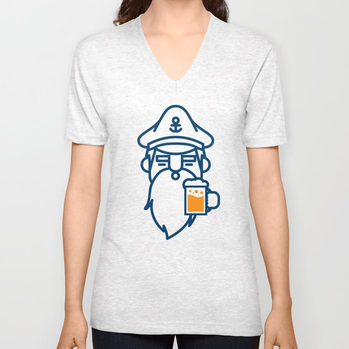 beard & beer  Unisex V-Neck