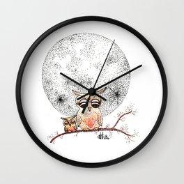Owl's Sun Wall Clock