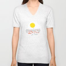 Breakfast Day  Unisex V-Neck