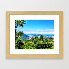 Rio de Janeiro Skyline Framed Art Print
