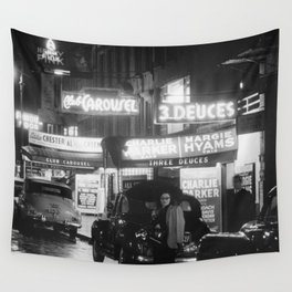 52nd Street, New York City. 1948 Wall Tapestry