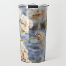 Pink and Peach Flowers Travel Mug