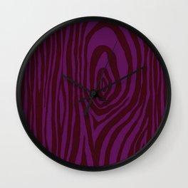 Purple Wood Grain Wall Clock