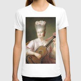 François-Hubert Drouais - Madame Clotilde playing the guitar T-shirt