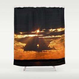 Exhilarating sky Shower Curtain