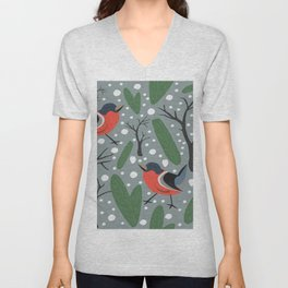Birds Unisex V-Neck
