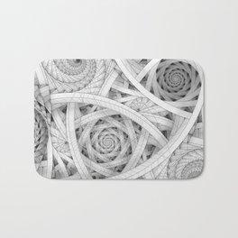 GET LOST - Black and White Spiral Bath Mat