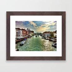 Sunrise on the Grand Canal, Venice Framed Art Print