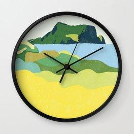 Jeju island, South Korea Landscape Illustration  Wall Clock
