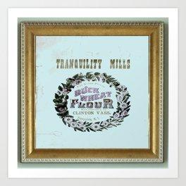 flour power: tranquility mills Art Print