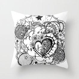 Affirmation Doodle  Throw Pillow