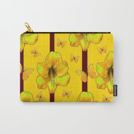 """""""FOR THE LOVE OF BUTTERFLIES"""" RED-YELLOW ART Carry-All Pouch"""
