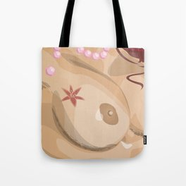 The Woman With The Pearl Necklace Tote Bag