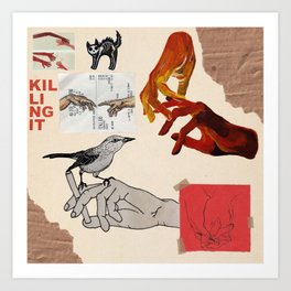 Hands Painted On Paper Art Print