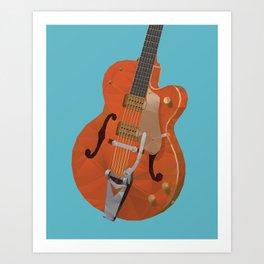 Gretsch Chet Atkins Guitar polygon art Art Print