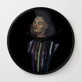 Distinguished young lady Wall Clock