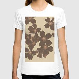 Toffee Soybean Primrose Pattern T-shirt