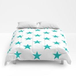 Stars (Tiffany Blue/White) Comforters