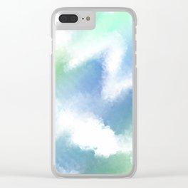 Ocean Vibes Tie Dye Clear iPhone Case