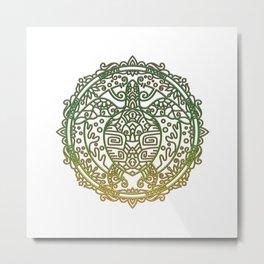 Turtle Mandala Metal Print