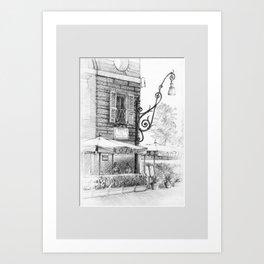 Caffe Rosati Art Print