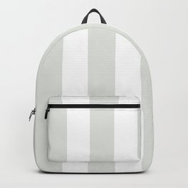 Chinese white grey - solid color - white vertical lines pattern Backpack