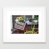 bikes Framed Art Prints featuring Bikes by constarlation