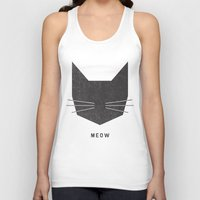 lady Tank Tops featuring MEOW by Wesley Bird