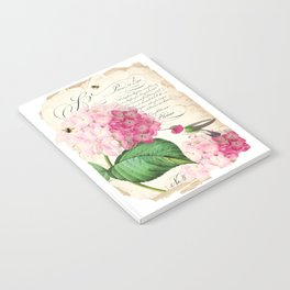 Hummingbird with hydrangea Notebook