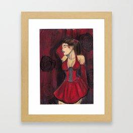 Rose Red Lovely Framed Art Print