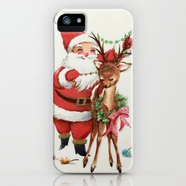 Santa and reindeer iPhone Case