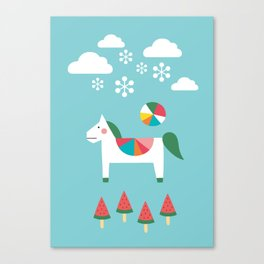 The Snowy Day Canvas Print