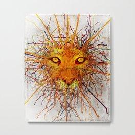 Lion Drip Metal Print