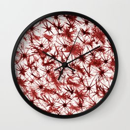 Red Abstract 386 Wall Clock