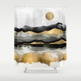 Golden Spring Moon Shower Curtain