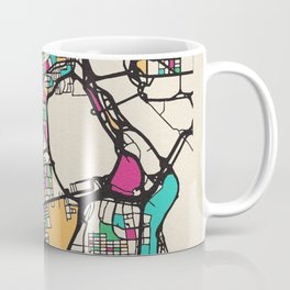 Colorful City Maps: Arlington County, Virginia Coffee Mug