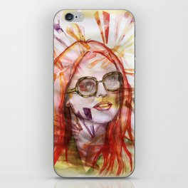 Julianne Moore Sunflower iPhone Skin