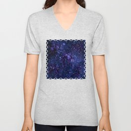 The Wolves Hidden in the Sapphire Blue Galaxy Unisex V-Neck