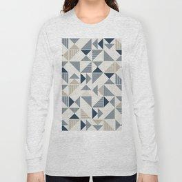 Abstract Geometric Triangle Pattern Long Sleeve T-shirt