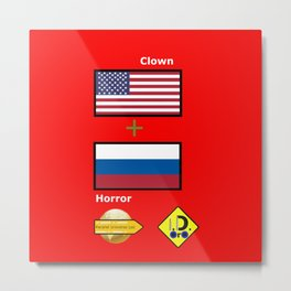 Clown Horror Metal Print