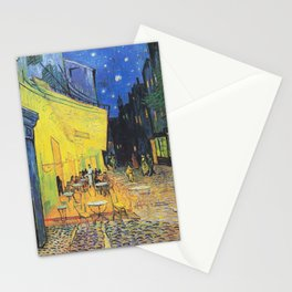 Café Terrace at Night by Vincent van Gogh Stationery Cards