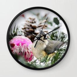 Christmas Bird Wall Clock