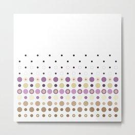 Polka Dot Escalation// Taupe + Lilacs Metal Print
