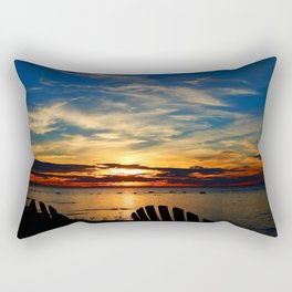 Peace and Relaxation at the Sea shore Rectangular Pillow