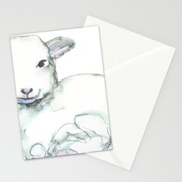 Little Lamb, watercolor Stationery Cards