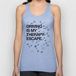 Driving therapy Unisex Tank Top